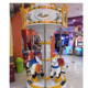 Portable Electric Carousel Toy 6 Horse Swing Merry Go Round Hors