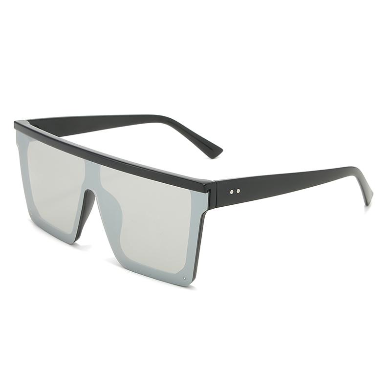 THREE HIPPOS Flat Top Sunglasses Women Gradient Plastic Gradient UV 400 Custom Logo 2020 New style Transparent Square