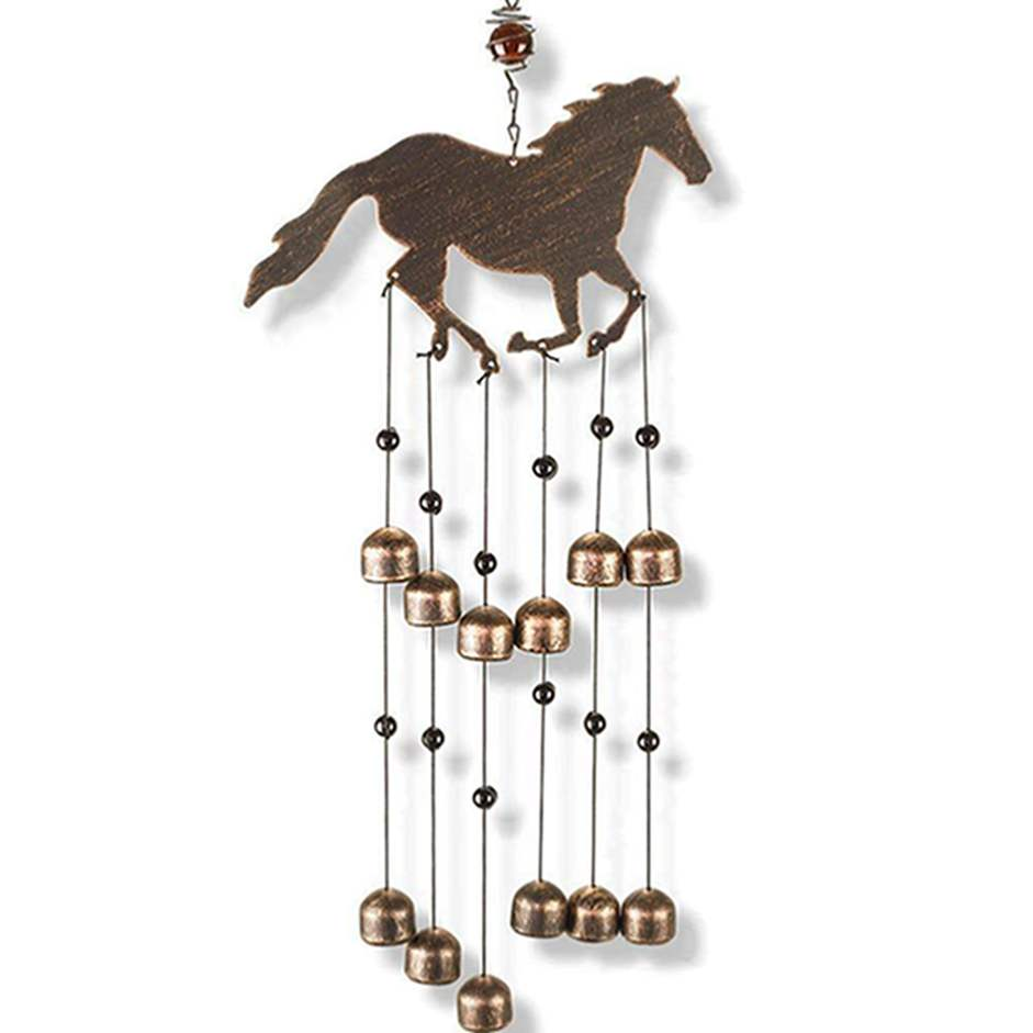 Sinoglory metall pferd native american ohrringe wind chime musical instruments