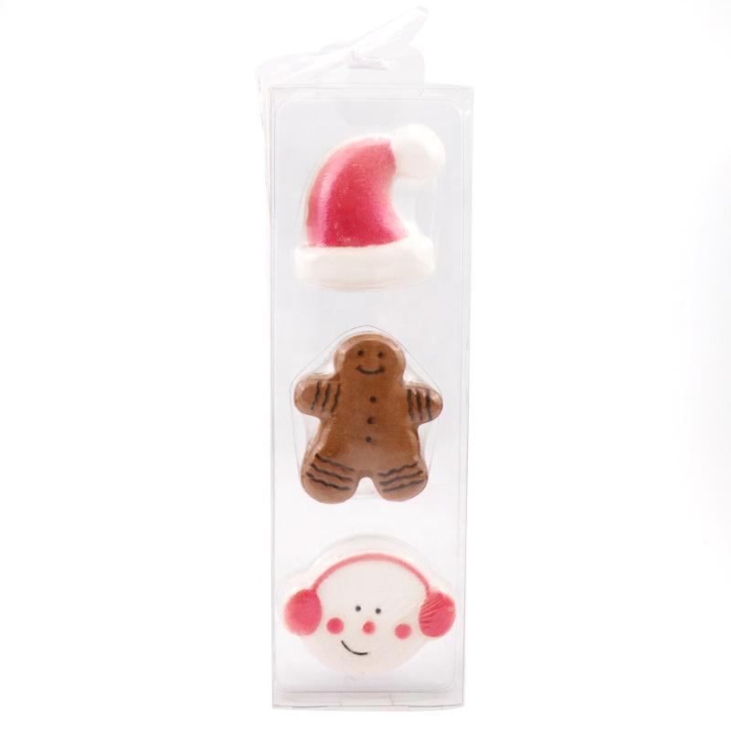 Christmas Wholesale Custom Handmade Maker Private Label Colorant Press Natural Vegan Bubble Fizzy Organic Hemp Bath Bombs Set