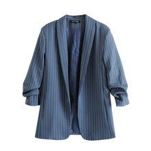 Женский клетчатый Блейзер KPYTOMOA, винтажный офисный пиджак с плиссированными рукавами и карманами, верхняя одежда, 2020(Китай)