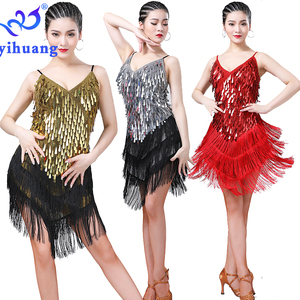 Latin Dance Dress Women Performance Wear for Cha Cha Ballroom Salsa  Charleston Competition Dresses 1920s Costume Gatsby Party