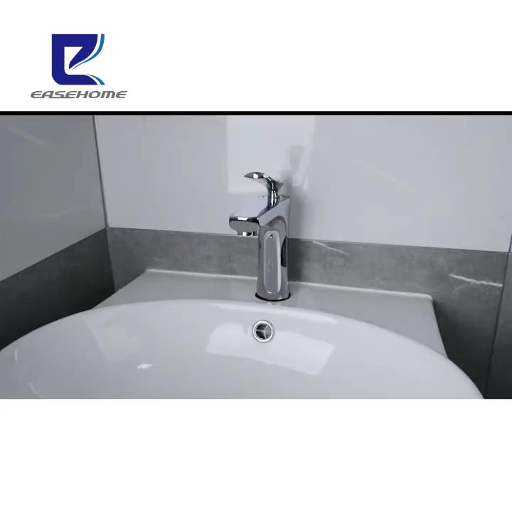 工場直接販売洗面器ミキサー単ハンドルコールドとホット水タップデッキマウント浴室のシンクの蛇口