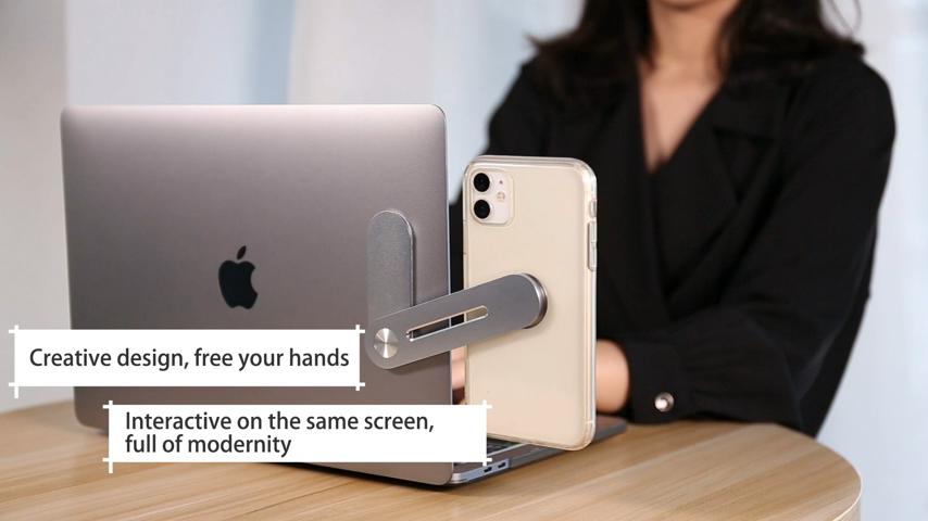 חדש עיצוב רב תכליתי מיני מחשב Stand אלומיניום סגסוגת מחשב נייד נייד טלפון מחזיק עם מתקפל הארכת