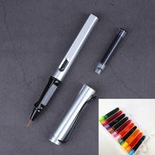 8 цветов фонтаны мягкая кисть Ручка 10 видов цветов чернила Sac Китайese каллиграфия ручка для письма живопись школьные офисные канцелярские прин...(Китай)