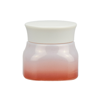 50g custom pink color glass jar cosmetic square glass face cream cosmetic glass bottle and jar