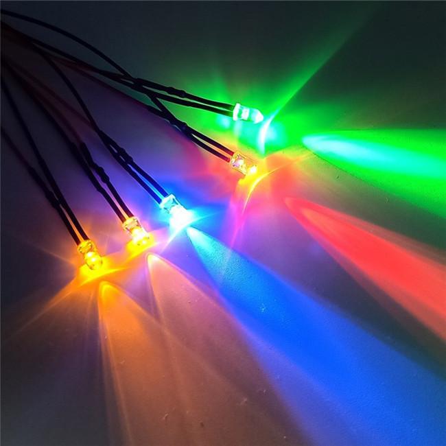 10 adet DC 12V ön kablolu LED lamba kablosu ampul yayan diyot 18cm 5mm araba ışık montaj