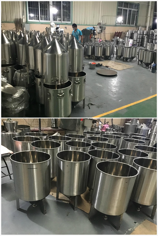 शिल्प बियर किण्वन 60L उच्च गुणवत्ता Yeat Colllect टंकी शीतलन प्रणाली उन्नत शंक्वाकार किण्वक किण्वन टैंक