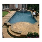 Popular Beautify Rusty Slate Stone Products Cheap Swimming Pool Bullnose Tiles For Sale, Patio Pool Or Garden Pond Edge Tile