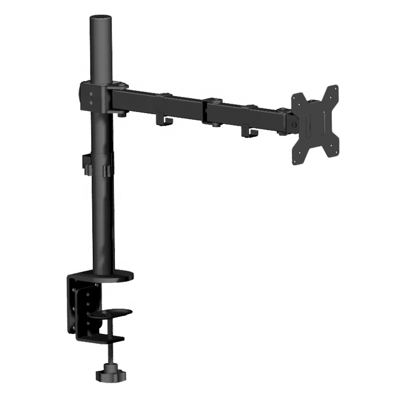 Single Adjustable Computer Monitor Arm Mount Stand For 13 To 27 Inches Screen