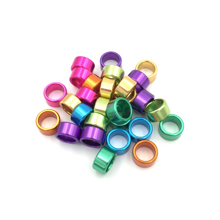 8mm Bright Anodized Aluminum Pigeon Ring