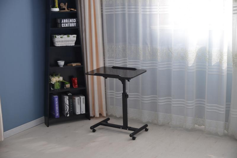 Height Adjustable Home Office Bedroom Bedside Laptop Table