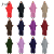 2020 Latest Design Solid Color Stretchy Two Piece Jilbab Muslim Prayer Abaya Dress Long Hijab Islamic Clothes