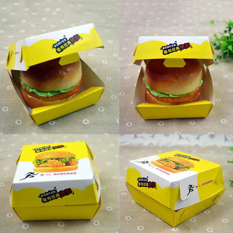 Foreign International Food grade paper hamburger boxes printing