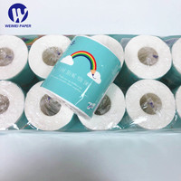 Paper Roll Toilet with Core Ready to Ship 100%Virgin Wood PulpToilet Tissue English Packaging