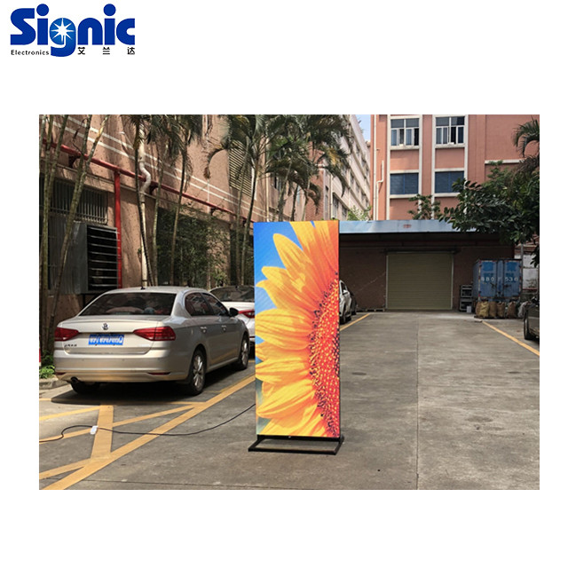 outdoor <strong>portable</strong> poster advertising <strong>screen</strong> P3mm big size high definition usb led poster display <strong>screen</strong>