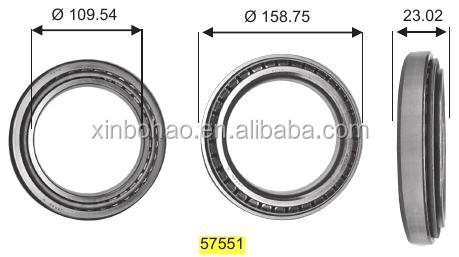 KOYO tapered roller bearing 32018 32213 32217 32218 32308 taper roller bearing with size chart