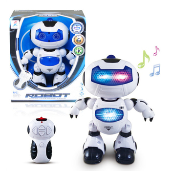 Popular Robot Toy 4CH Remote Control Robot Toy with Light and Music