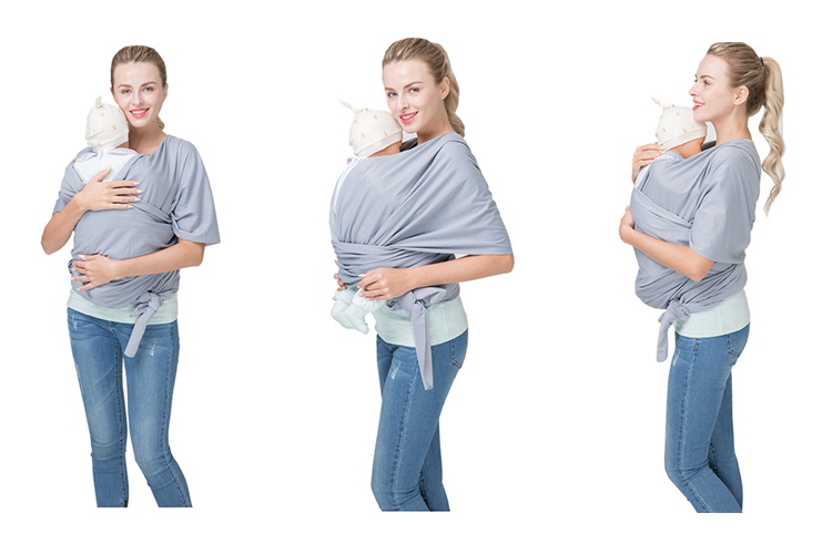Infant sling carrier newborn stretchy wrap baby carrier