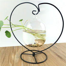 Clair Vase En Verre Suspendu Mini Aquarium Bol Aquarium Support De Bureau Décoration