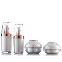 luxury cosmetics bottles 30ml 50ml acrylic lotion bottle for acrylic bottle