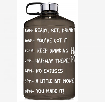 Reusable Leak Proof Motivational Water Bottle Time MarkerJug Hand Letter Water bottle