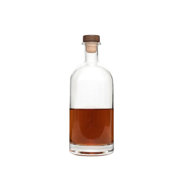 Custom Empty Gin rum whisky spirit glass vodka bottle square 250ml wine and liquor 750 ml glass bottles