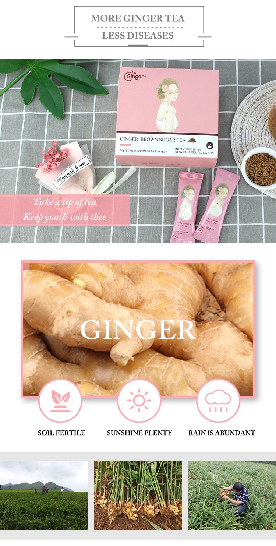 Top grade Instant Ginger Tea Crystals Brown Sugar Ginger Tea - 4uTea | 4uTea.com