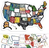 RV State Stickers United States Travel Camper Map RV Decals for Window, Door, or Wall on RV adventures