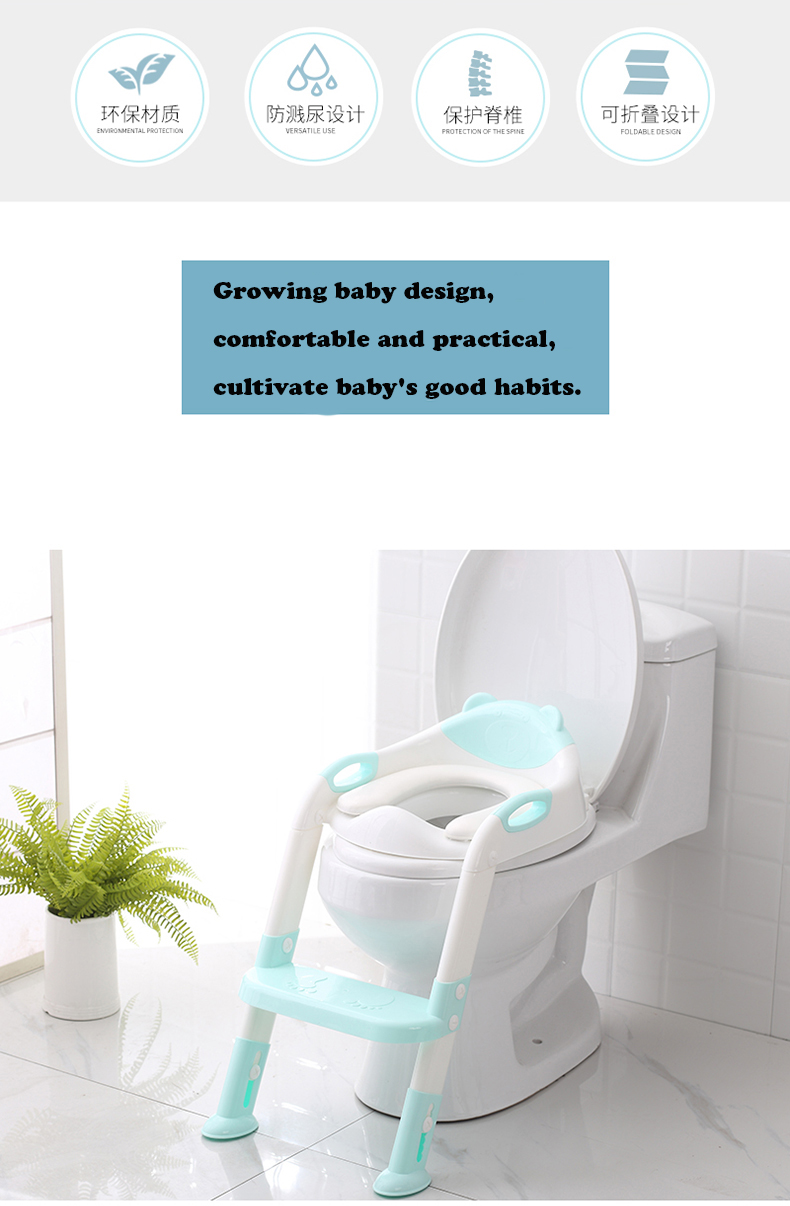 Clear-Pink Plastic Potty Trainer for Babies//Children Comfortable Chair with Handles Colorful Training Potty Toilet Seat Trainer