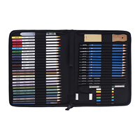 51 pcs large capacity color drawing pencil art set