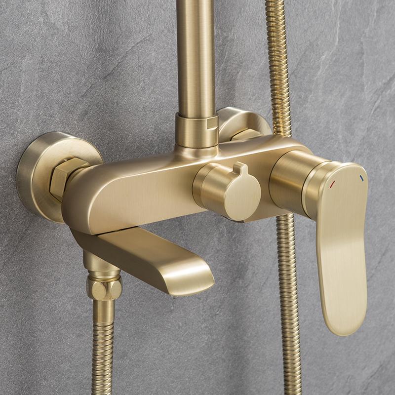 Large shower faucet of Raskin bathroom Bathroom faucet 4 hole mounting deck brass bathtub faucet set