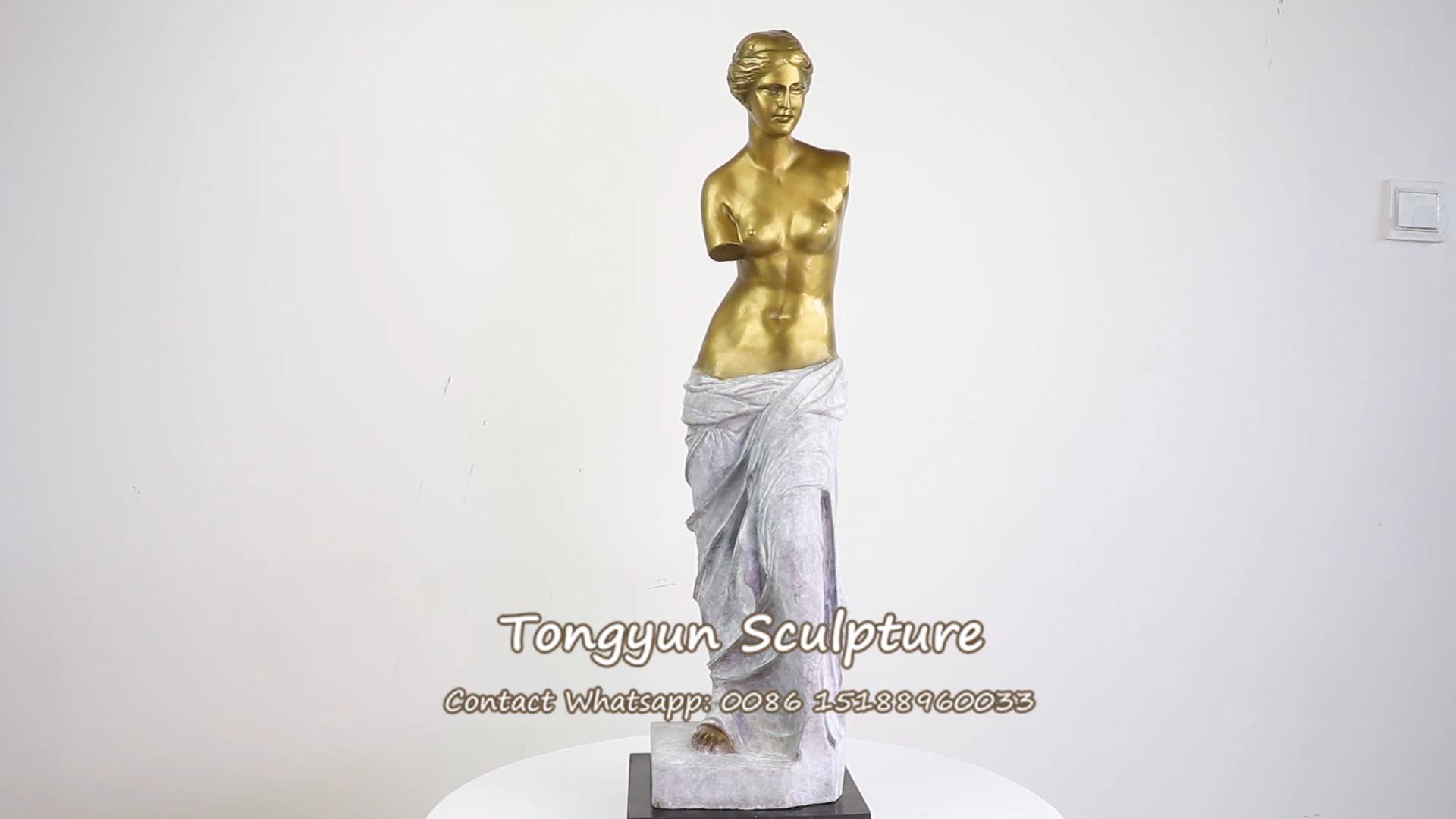 Decoração Da casa de Fundição De Bronze Antigo Grego Deusa Vênus Escultura Estátua