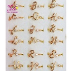 Fashion Custom Adjustable Personalize Initials Diamond Letter Rings