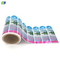 high quality clear custom printed PVC/PET bottle seal sticker shrink label