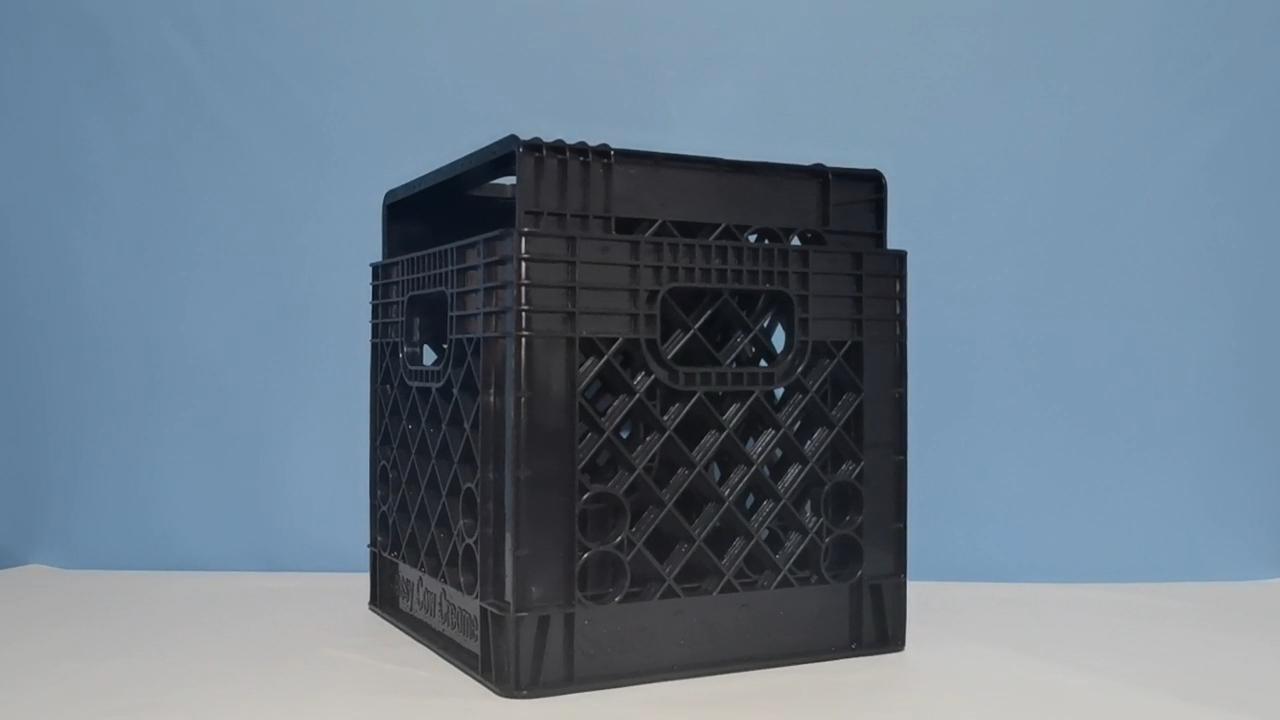 एचडीपीई 24 चौथाई गेलन प्लास्टिक काले गोदाम भंडारण दूध बक्से बॉक्स बिक्री के लिए