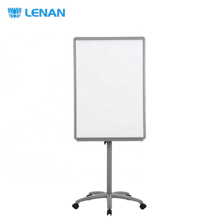 100X70cm mobile dry erase standing whiteboard flip chart easel magnetic whiteboard with stand,flip chart board with wheel