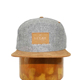 Custom snapback Wholesale Grey worsted 6-panel hat with Embossed Snapback Cap