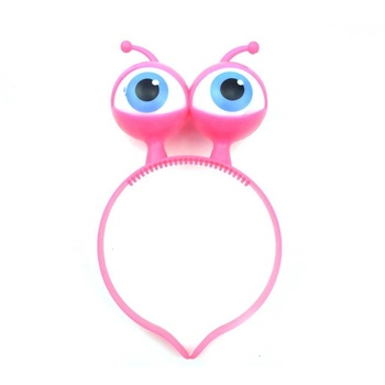 Plastic LED Light up Flashing Alien Eyes Headband