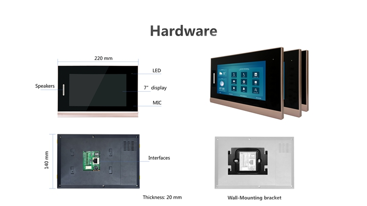 Smart Home Dinding Tablet Pengontrol Otomasi Android Tcp/Ip Visual Interkom Panggilan Video Door Phone Poe Sip