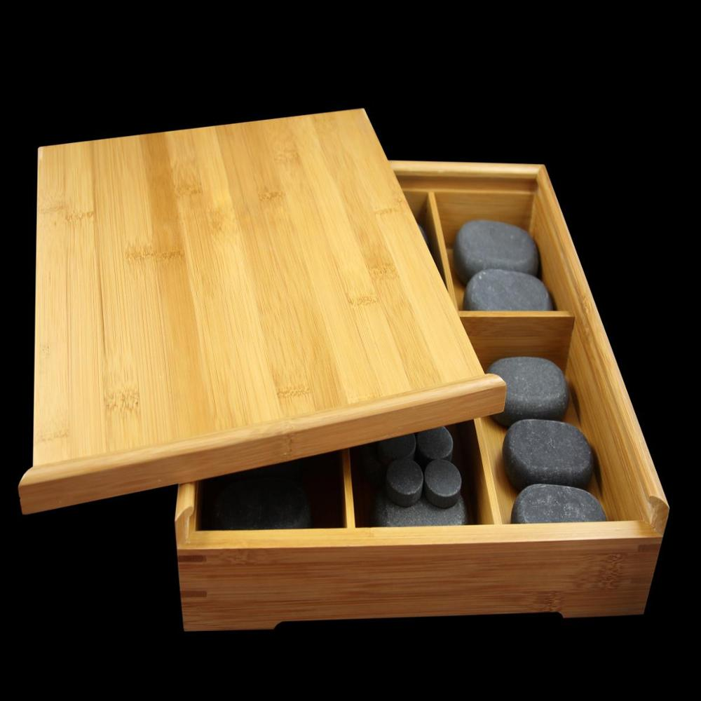 Massager spa producten hot stone set