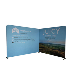 Textile Curved Top Quality Magnetic Aluminum Pop Up Banner Stand For Advertising Display