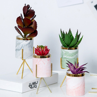 Cute Bulk Succulent Table Stand Indoor Cheap Artificial Gold Small Wholesale Cactus Plant & Planters Mini Ceramic Flower Pots