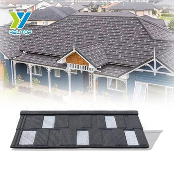 Shingle Type Colorful Stone Chip Coated Roof Sheet Building Material Price From China