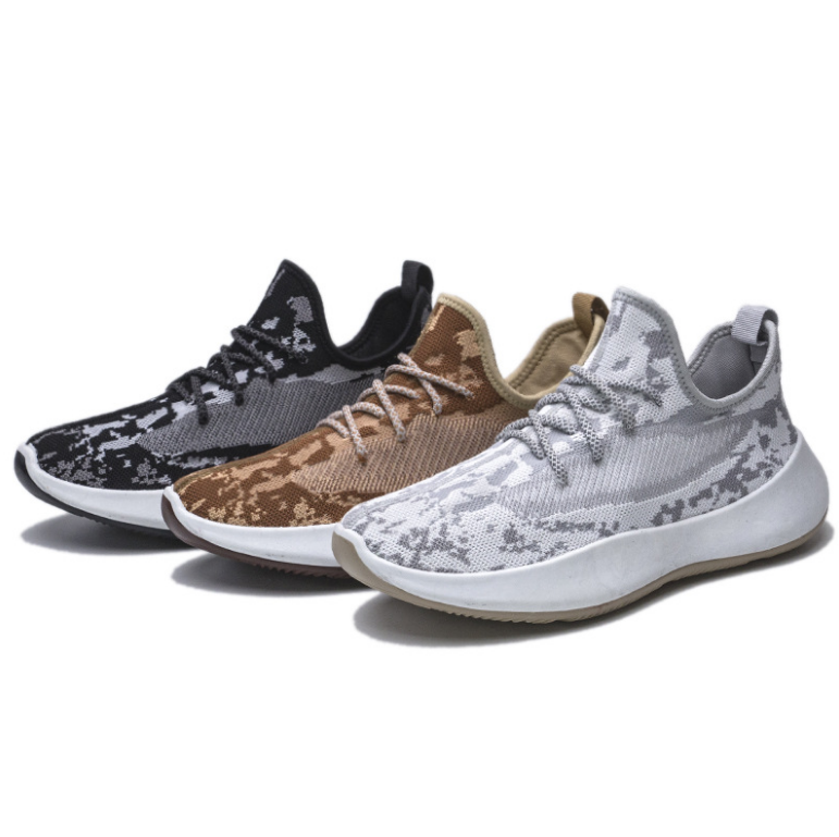 2021 trend fashion super soft sole coffee camouflage shade men yeezy shoes mens tourist running walking fitness casual shoes