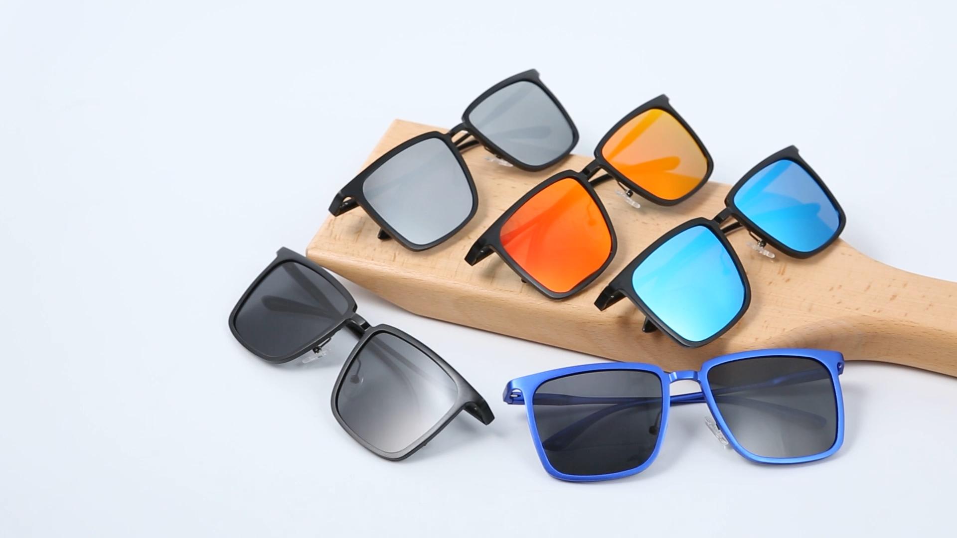 Men's trendy fashion 2020 new design no MOQ customized engrave logo wholesale metal sunglasses
