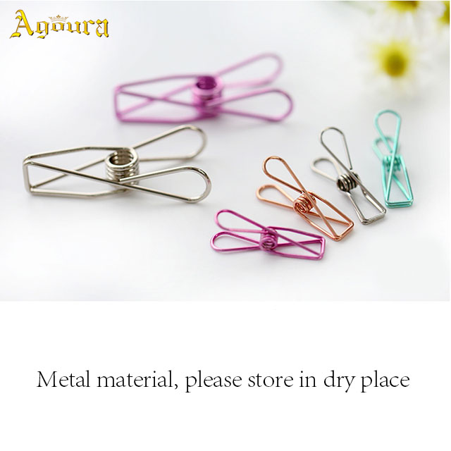 Wholesale accept custom multi size office book binding clip paper binder clip