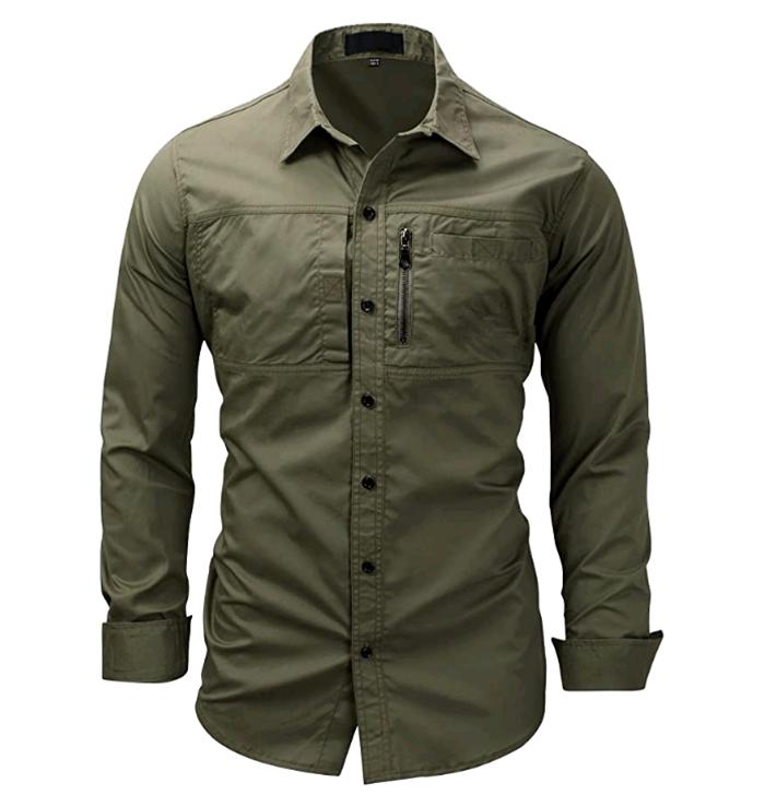 verde militar   Camisas verdes militar, Camisa verde, Ropa