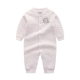 China Factory Autumn Light Pink 100% Cotton Long Sleeve Babies Romper