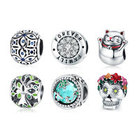 New arrival high quality 925 sterling silver european charms for bracelet making